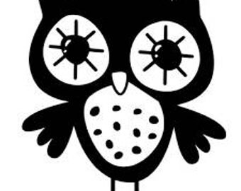 Owl Vinyl Car Decal Bumper Window Sticker Any Color Multiple Sizes Jenuine Crafts