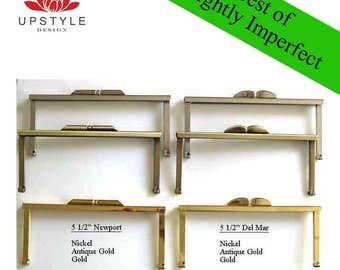 """SAVE 50%  Set of 5 Frames - 5 1/2"""" Small Modern Frames - BEST of Slightly Imperfect Clutch Purse Frames - Ships from USA"""