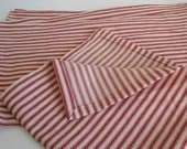 Everyday Cloth Napkins Cotton traditional red ticking fabric country farm house