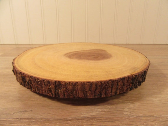 Nice tree trunk slice wood cutting food serving board fine for Wood trunk slices