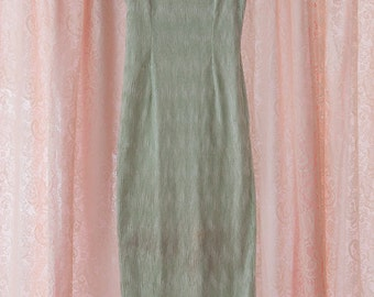 Vintage Gown - Bridesmaid Prom NWT's Mermaid Green Sheath Jessica McClintock