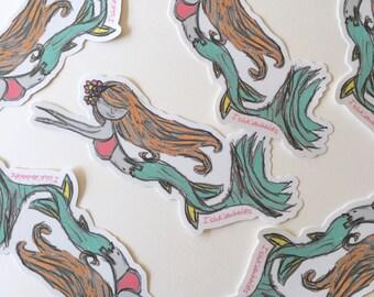 Mermaid Vinyl Stickers Ishkabibbles