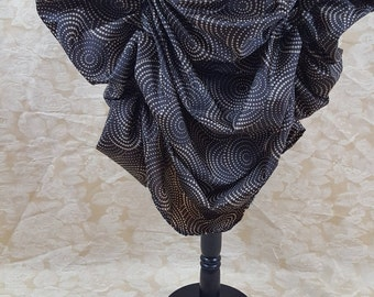 New Year Sale Brown Swirl Polka Steampunk Midi Length All Around Bustle Skirt-One Size Fits All