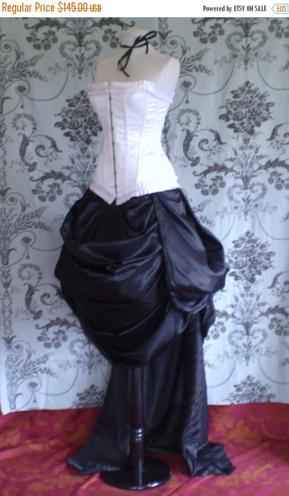 SALE Antoinette Trained Bustle Skirt-To Fit Natural 20-50 Inch Waist