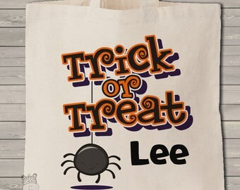 Trick or treat bag Halloween bag use every year personalized Halloween theme bag MBAG1-044
