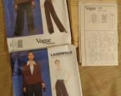 Patron Vogue 1861 non-coupe Lagerfeld Paris Original taille 8-18 Advanced couture deux dimensions au choix