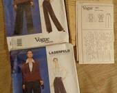 Vogue Pattern 1861 Uncut Lagerfield Paris Original Size 8-18 Advanced Sewing Two Size Choice