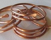 Copper Bangle Bracelet. Arthritus Bracelet.Chakras Cuff. Pure Copper Wristlet. PRIORITY MAIL USA.