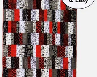 EASY DOES IT 5 Fabrics and Sizes Fat Quarter Eighth Friendly Patchwork Quilt Quilting Pattern Sewing Designs to Share with You