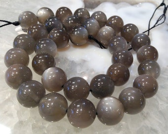 50% Mega Sale 12mm Top Taupe Brown Moonstone Gemstone Beads