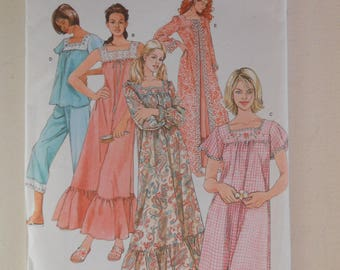 Misses Nightgown, Pajamas and Robe Sewing Pattern Simplicity 4048 Size 14 16 18 20 22 24 Bust 36 38 40 42 44 46 UNCUT