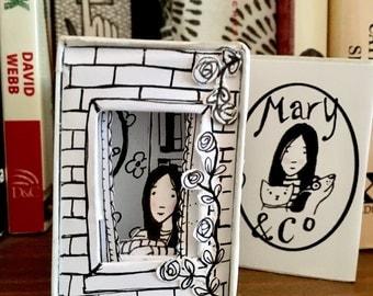 Mary's window matchbox diorama