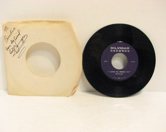 Vintage Vinyl 45RPM Rockabilly 45 Bill Younger Signed Bilvidar Private Label Vancouver EX