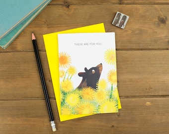 These Are For You - Bear Greetings Card