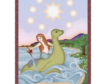 The Star Cryptozoology Tarot Card Print