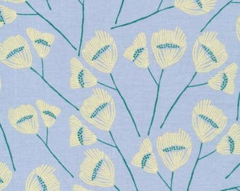Organic Cotton Batiste, Cloud9 , Sepal, Powder Blue from Leah Duncan's Floret Collection, by the half-yard