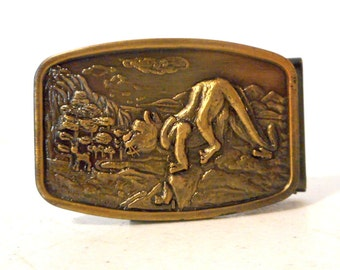 Small Wildcat Belt Buckle Deer Mountain Lion Petite Wildlife Wild Cat Unisex Retro
