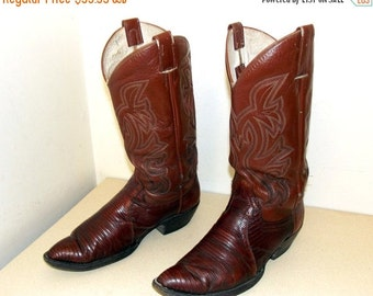 Vintage Cowtown brand Cowboy Boots size 10 D or Cowgirl size 11.5 with lizard foot