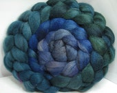 Sale BFL/Bombyx 75/25 Roving Combed Top - 5oz - Winter Waves 2