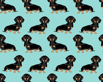 Doxie Fabric - Doxie Dachshund Wiener Dogs Pet Pets By Petfriendly - Doxie Cotton Fabric By The Yard With Spoonflower