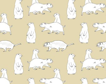 Prairie Dogs Fabric - Prairie Dog By Crumpetsandcrabsticks - Zoo Animal Nursery Kids Decor Cotton Fabric By The Yard With Spoonflower