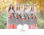 5 bridal party tote bags , bridesmaid gifts , tote bag , bachelorette party gift , destination wedding bag , bridesmaid bags
