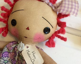 Happy Mother's Day Ragdoll - mother's Day doll - Raggedy Ann - Raggedy Annie - Mother's Day gifts - Raggedy anne doll - Ragdolls - mother