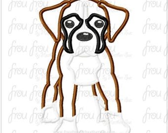 "Boxer Dog Digital Embroidery Design Machine Applique 4""-16"""