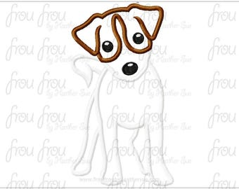 "Jack Russell Dog Digital Embroidery Design Machine Applique 4""-16"""