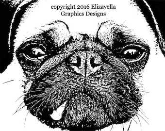 pug dog png clip art Digital graphics Image Download animals puppies dogs