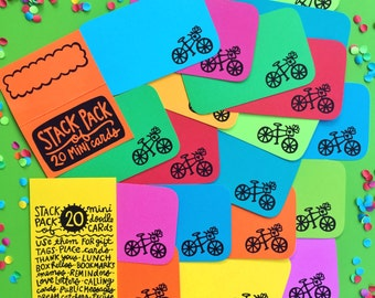 Bike Ride Stack Pack (20 mini cards/tags)