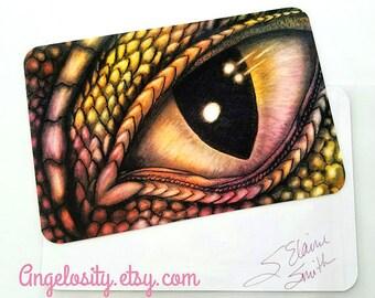 Dragon Eye Fantasy Art Print MINI - Ready to frame!