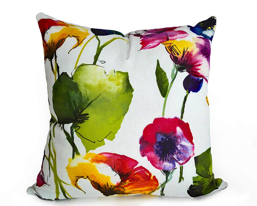Watercolor Floral Pillows Colorful Pillow Covers Floral