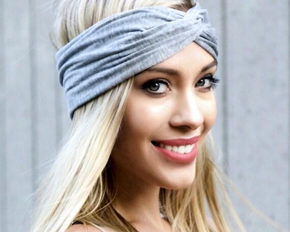 Yoga Workout Running Women's Headband Turban Headband Gray Ear Warmer Spring Fashion Spring Accessories Jogging Turban