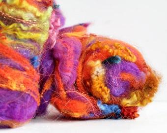 Spirit Dancer 4 oz  Wool - Merino // Art Batt // Wool Art Batt for spinning or wet felting