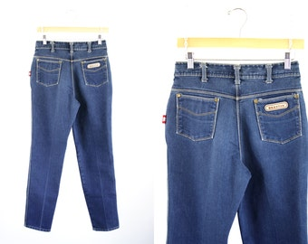 Vintage Braxton Medium Wash High Waist Tapered Leg 80's Woman's Retro Jeans