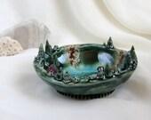Magical planet of tiny fairies - Hand Made Ceramic Eco-Friendly Home Decor by studio Vishnya