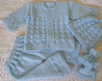 Coming Home Set, Take Home, Knitted Outfit, Newborn Set, Baby Boy Outfit, Baby Shower, Knitted Newborn Set, Christening Outfit,.