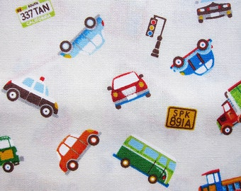 Japanese Fabric - All Kinds of Vehicles - Fat Quarter - Cosmo Textiles
