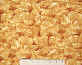 Food Fabric - Packed Tortilla Chips C1842- Timeless Treasures YARD