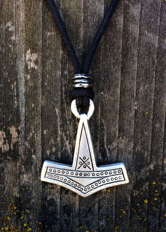 Mjölnir Thor's Hammer Pewter Pendant   Viking Jewelry   Norse Jewelry   Thor Pendant   Handcrafted Jewelry   by Treasure Cast Pewter