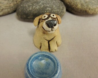 RESERVED for Iris RESERVED Bubu...Miniature Dog in Stoneware