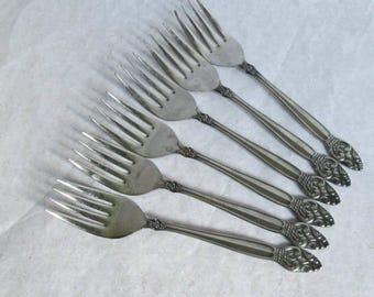 Vintage Manor House MHO34 Stainless Steel Salad Forks 6