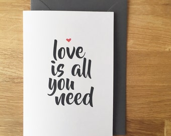 love is all around card  - valentines card - valentines - love heart - pun card