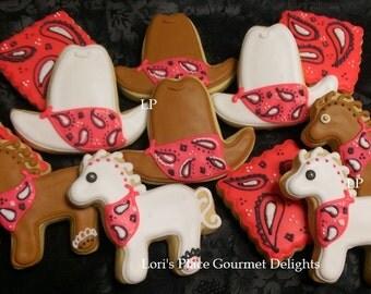 Cowgirl Cookies - Cowboy Cookies - 12 Cookies