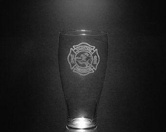 Volunteer Fire Department 18 Ounce Pilsner Glass