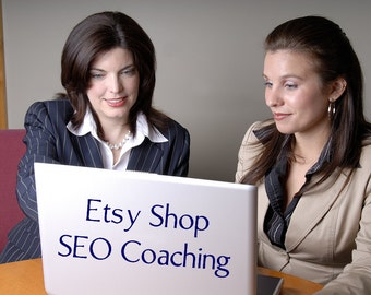 SEO Help - Etsy SEO Etsy Shop Review with Coaching - One on One SEO Training with Digital Documents