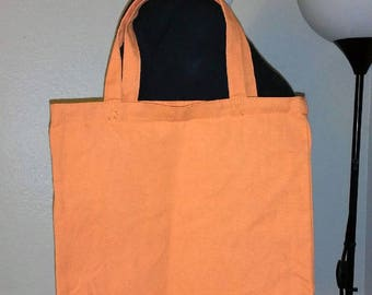 DIY New with Tags Orange Canvas Tote Bag