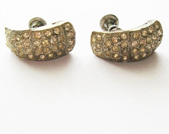 Vintage Nemo Rhinestone Earrings