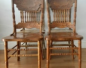 CUSTOM COLOR pick  any color you want Vintage wood rustic dining chairs set 4